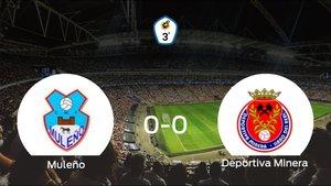 El Muleño y la Deportiva Minera concluyen su enfrentamiento en el Municipal de Mula sin goles (0-0)