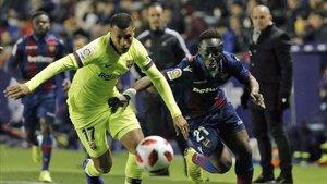 Murillo ha jugado en la Copa sus primeros minutos como azulgrana