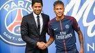 Neymar y Nasser en el día de la presentación