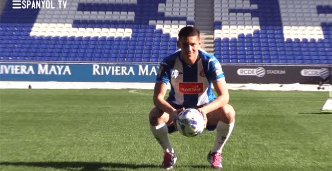 Óscar Duarte ya viste la camisetadel Espanyol