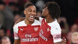 Pierre Aubameyang cerró una magnífica jugada colectiva del Arsenal