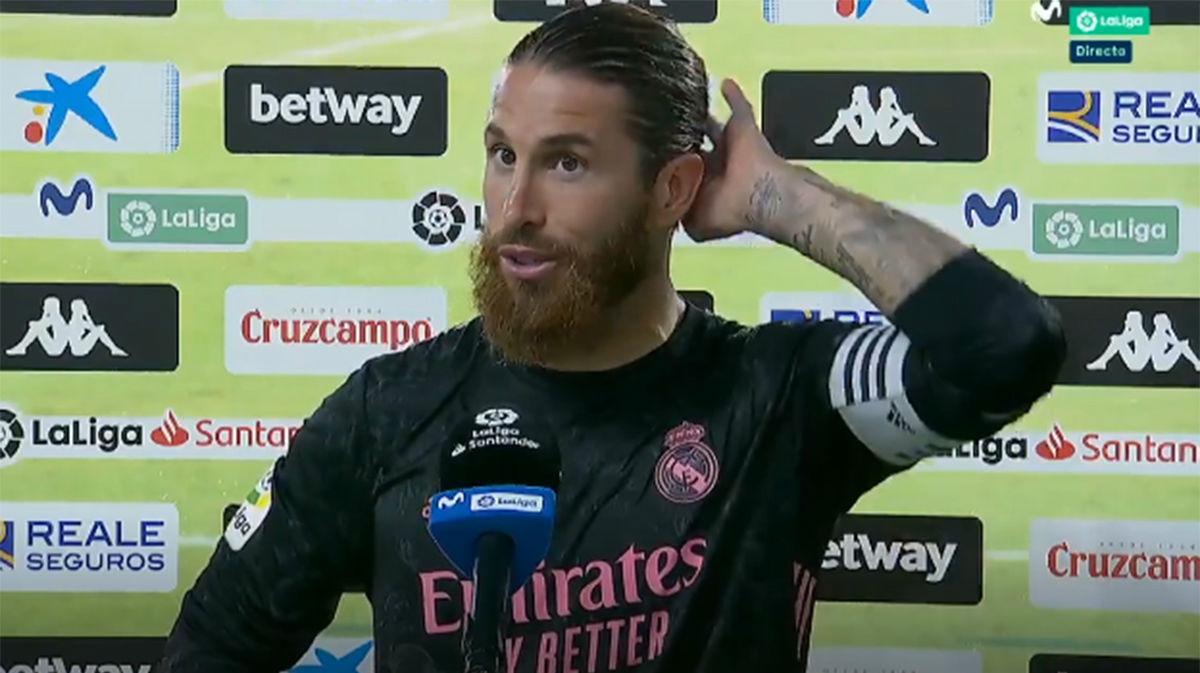 Le preguntan a Sergio Ramos por una posible reducción de salarios y el jugador dice que eso depende del gobierno