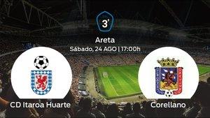 Previa del encuentro: el Itaroa Huarte inicia la Tercera División jugando contra el Corellano