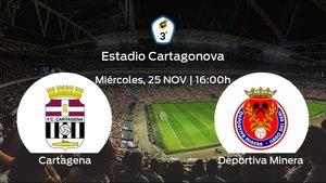 Previa del partido: el Cartagena B recibe a la Deportiva Minera