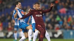 Rafinha reapareció frente al Espanyol