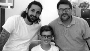 Ricky Rubio, junto al joven Luca