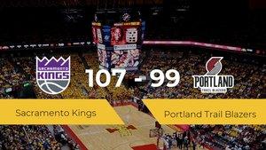 Sacramento Kings se impone por 107-99 frente a Portland Trail Blazers