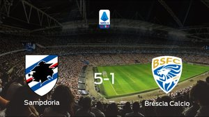La Sampdoria logra una trabajada victoria en casa frente al Brescia Calcio (5-1)