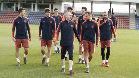 Último entrenamiento del Barça antes de partir hacia Sudáfrica