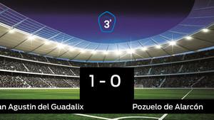 Victoria 1-0 del San Agustin del Guadalix frente al Pozuelo de Alarcón
