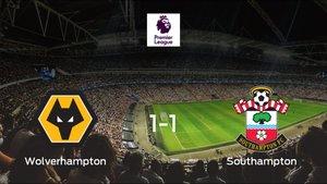 El Wolverhampton Wanderers y el Southampton reparten los puntos tras empatar a uno
