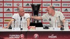 Zeljko Obradovic y Pablo Laso en la rueda de prensa previa a la final de la Euroliga