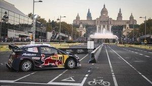 Ogier se impone en el espectacular tramo de Barcelona