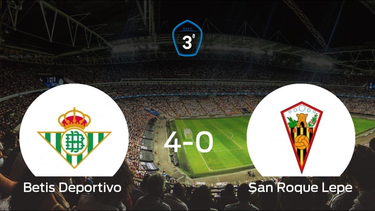 471c46503 Betis Deportivo 4-0 San Roque Lepe: El San Roque Lepe sufre una goleada  frente al Beti