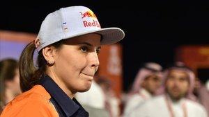Laia Sanz durante la presentación del Dakar 2020
