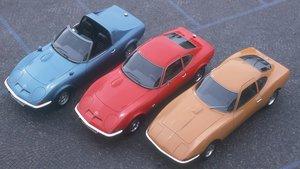 Varios de los prototipos de Opel.
