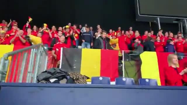 La afición de Bélgica, siguiendo el debut en la Copa Davis