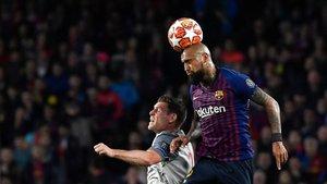 Arturo Vidal cuajó un gran partido ante el Liverpool