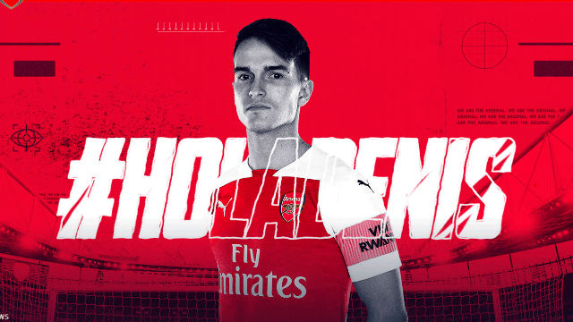 Así anunció el Arsenal el fichaje de Denis