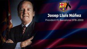 El Barça ha mostrado su pésame por la muerte de Núñez