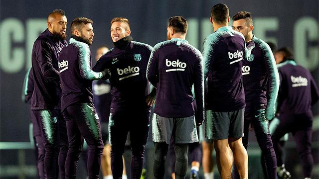 El Barça ya prepara su partido ante el Villarreal