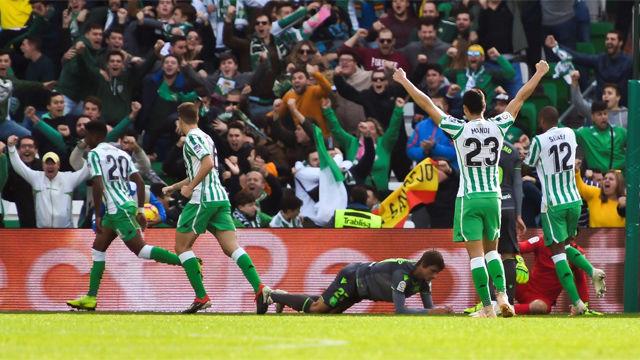 El Betis se reencontró con la victoria en el Villamarín