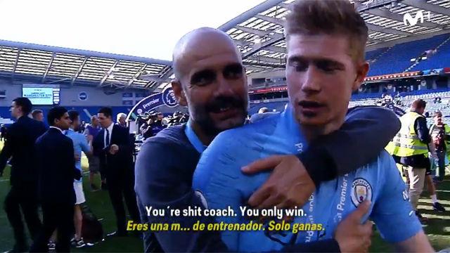 De Bruyne, irónico con Guardiola: Eres un entrenador de mierda, solo sabes ganar