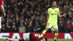 Busquets elogió el partido de Messi en Old Trafford