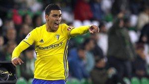 Dani Romera pertenece al Cádiz, pero esta temporada juega en el Alcorcón