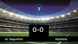 Empate (0-0) entre el At. Saguntino y el Atzeneta