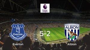 El Everton consigue los tres puntos en casa tras pasar por encima al West Bromwich Albion (5-2)