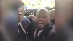 Evra y Pogba, se ríen de la eliminación del PSG desde la grada del Parque de los Príncipes