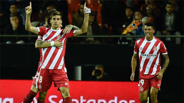 El Girona deja tocado al Valencia y a Marcelino