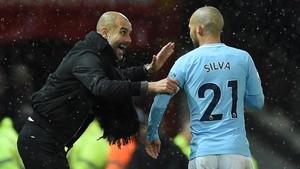 Guardiola se deshizo en elogios hacia Silva