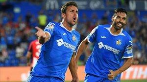 Jaime Mata celebra el tanto del empate