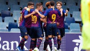 El Juvenil del Barça se aseguró la plaza en los octavos de la Youth League con su empate ante el PSV