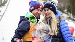 Kamil Stoch y su mujer