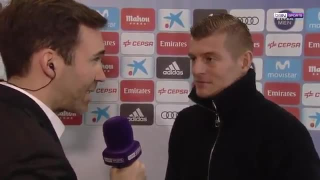 Toni Kroos says Real Madrid's objective is to qualify for the Champion