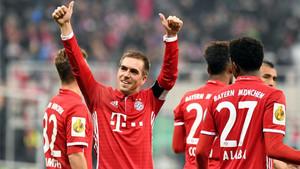 Lahm anunció su adiós después del partido contra el Wolfsburgo