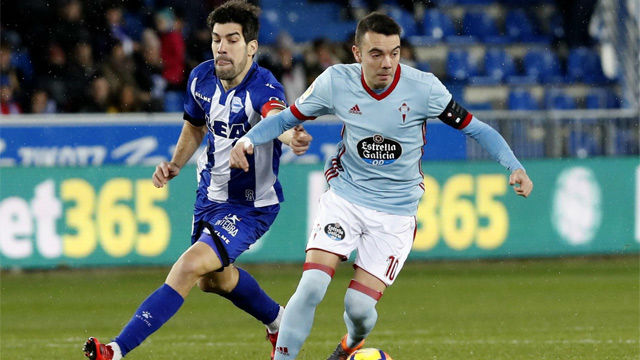 LALIGA   Alavés-Celta (2-1)   Iago Aspas firma un gol a lo Messi