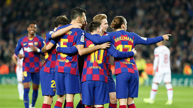 Las notas de los jugadores del Barça ante el Mallorca