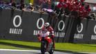 Lorenzo, en el momento de cruzar primero bajo la bandera a cuadros