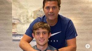 Los dos Pochettino celebraron la renovaciòn con el Tottenham del hijo