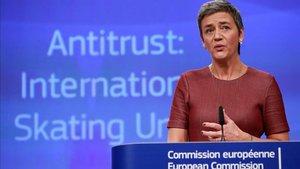 Margrethe Vestager, comisaria europea de Competencia,