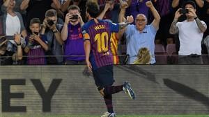 Messi, infalible, no faltó a su cita con el gol en la primera jornada de Liga