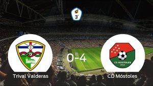 El CD Móstoles consigue una goleada en el estadio del Trival Valderas (0-4)