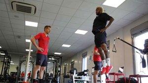 Neymar entrenando ya con el PSG