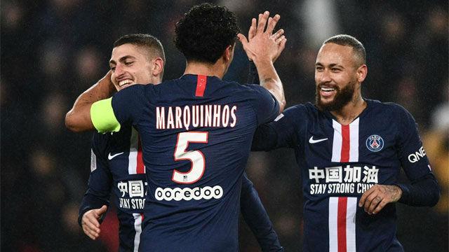 El PSG remontó el gol inicial del Girondins en un partido con expulsión de Neymar incluída