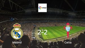 Real Madrid and Celta ended the game with a 2-2 draw at Santiago Bernabeu