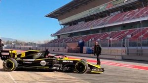 Ricciardo, por primera vez al volante del Renault